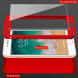 360 Degree Protection Full Cover Phone Case iPhone X XS Max XR Shockproof Full Cover For iPhone 5 5S SE 6 6S 7 8 Plus With Glass 4