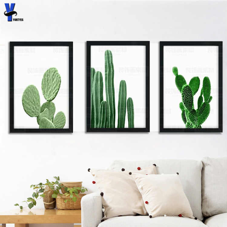 Prints And Cuadros Posters cactus  Wall Art Canvas Painting Wall Pictures For Living Room Nordic Decoration cactus  No  Frame