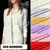 6 Color Pure Silk Jacquard Satin fabric For Sleepwear Or Bedding 16m/m,110cm