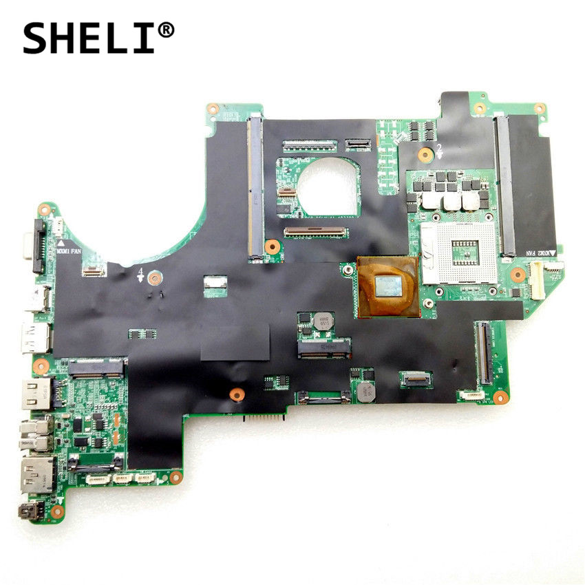 SHELI For DELL Alien-ware M17X R1 Laptop Motherboard CN-0F415N 0F415N F415N DDR3 Notebook Pc Mainboard 100% Fully Tested Good