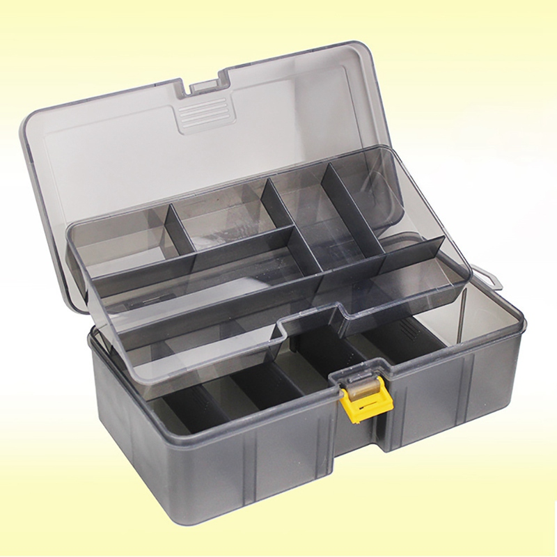 Adjustable Organizer Hook Tackle Box Multifunctional Fishing Lure Storage Case Portable Tackle Fishing Boxes Fishing Accessories