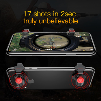 Baseus 1Pair L1 R1 Gaming Trigger Mobile Phone Games Shooter Controller Fire Button Handle For PUBG/Rules of Survival/Knives Out 4