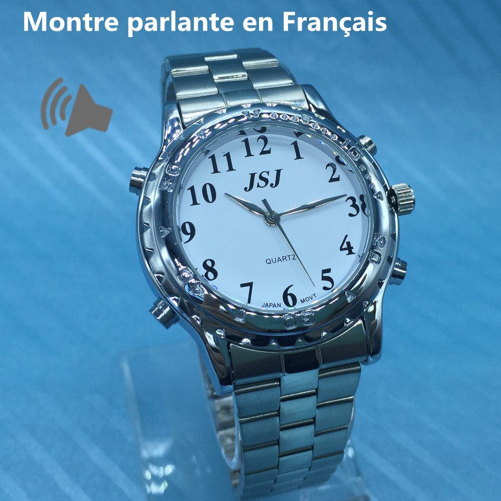 French Talking Watch Le Francais Parle for Blind People or Visually Impaired People цена и фото