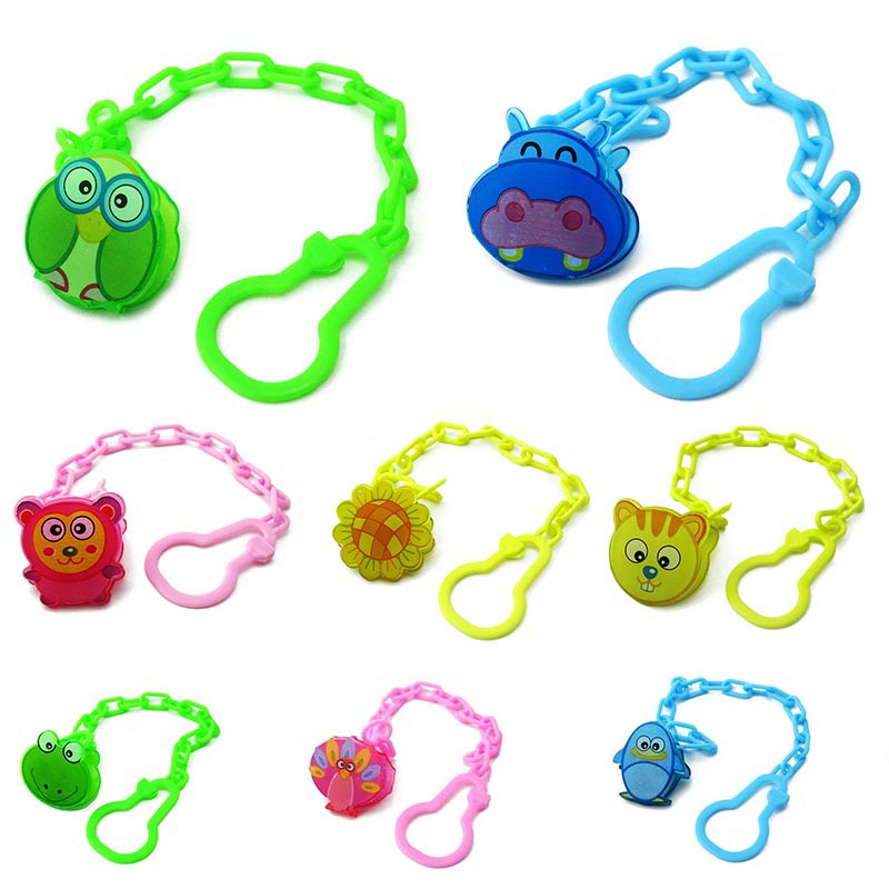 New 1pcs Baby Cartoon Pacifier Chain Infant Nipple Clip Comfort Feeding Baby Toddler Soother Nipples A
