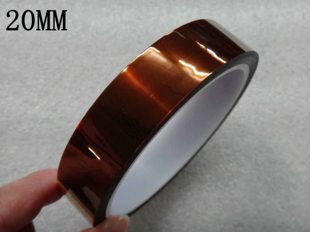 High Quality 20mm 33m 100ft Adhesive Tape High Temperature Heat Resistant Polyimide Tape For Electronic Industry