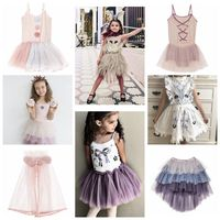 2018 SUMMER INS HOT KIDS TUTU DU GIRLS CLOTHING GIRLS LACE PARTY DRESSES EVENING DRESSES FOR GIRLS BIRTHDAY GIFTS VESTIDOS