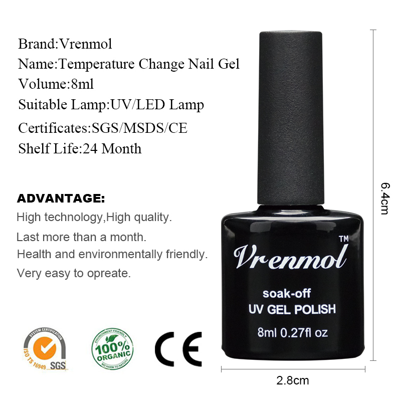 Vrenmol Chameleon Temperature Change Nail Color UV Gel Nail Polish ...