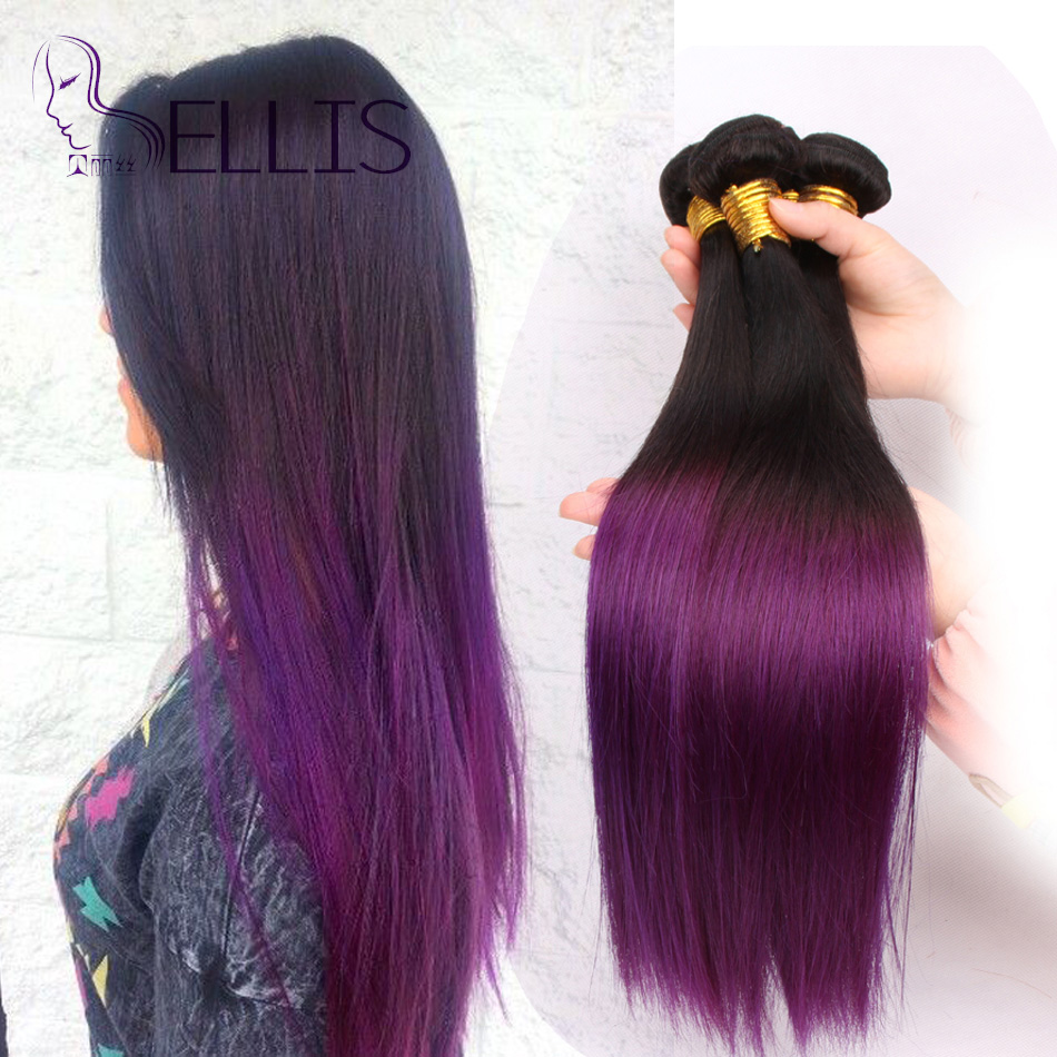 Ombre hair extensions two tone brazilian purple weave straight 10 ombre hair extensions two tone brazilian purple weave straight 10 24inch4 pcslot ombre purple weave ombre human hair straight in hair weaves from hair pmusecretfo Images