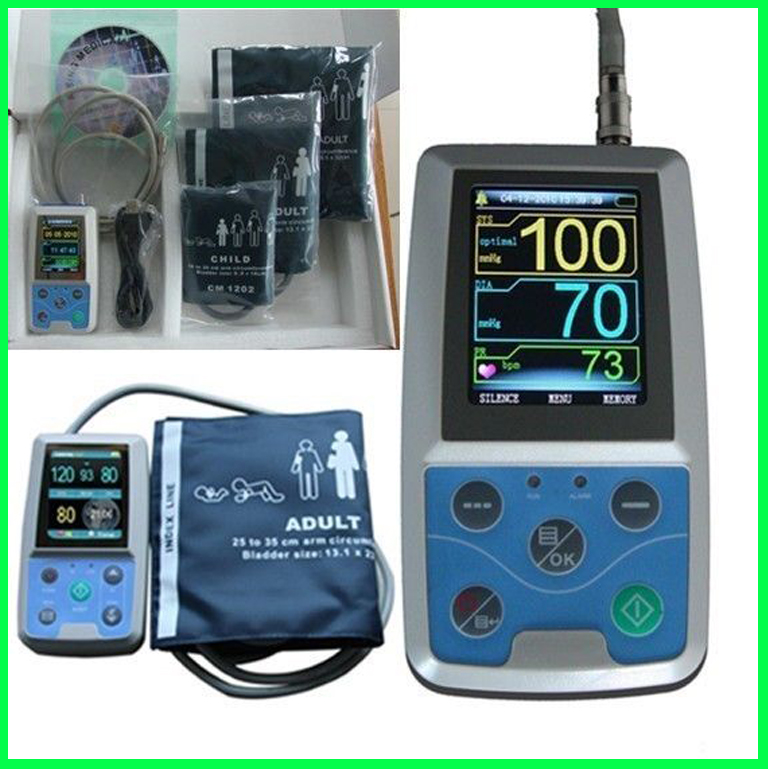 *Free Adult+Child+Infant Cuffs* ABPM50 Hospital & Home Used Automatic Arm Ambulatory NIBP, Pulse Rate Blood Pressure Monitor free 6 cuffs contec manufacturer shipping abpm50 24 hours ambulatory automatic blood pressure monitor nibp ce approved
