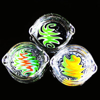 Imported Color Glass Oil Ring Ashtray Glass Ashtray Dish Glass Oil Ring Ashtray Glass Ashtray