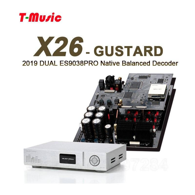 Realistisch 2019 Gustard Dac-x26 Dual Es9038pro Dsp Pll Native Ausgewogene Decoder Pcm384k Dsd512/110 V Oder 220 V Tragbares Audio & Video
