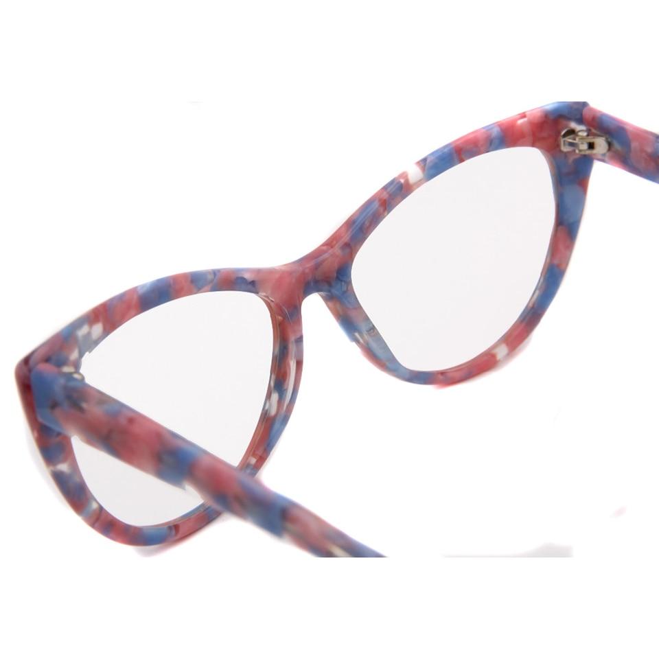 SORBERN NEW Women Luxury Cat Eye Eyeglasses Spectacles Glasses Handmade Frames Optical Myopia Eyewear Female Oculos De Grau in Women 39 s Eyewear Frames from Apparel Accessories