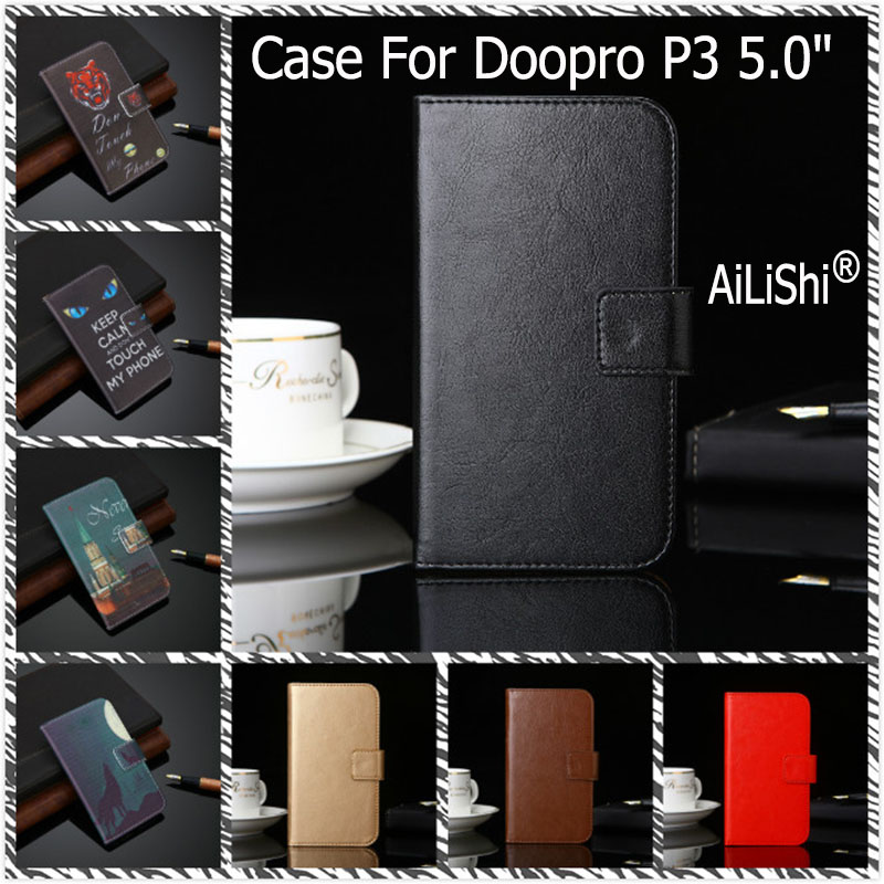 AiLiShi PU Leather Case For Doopro P3 5.0 Luxury Flip Protective Cover Wallet With Card Slots P3 5.0 Doopro Case In Stock