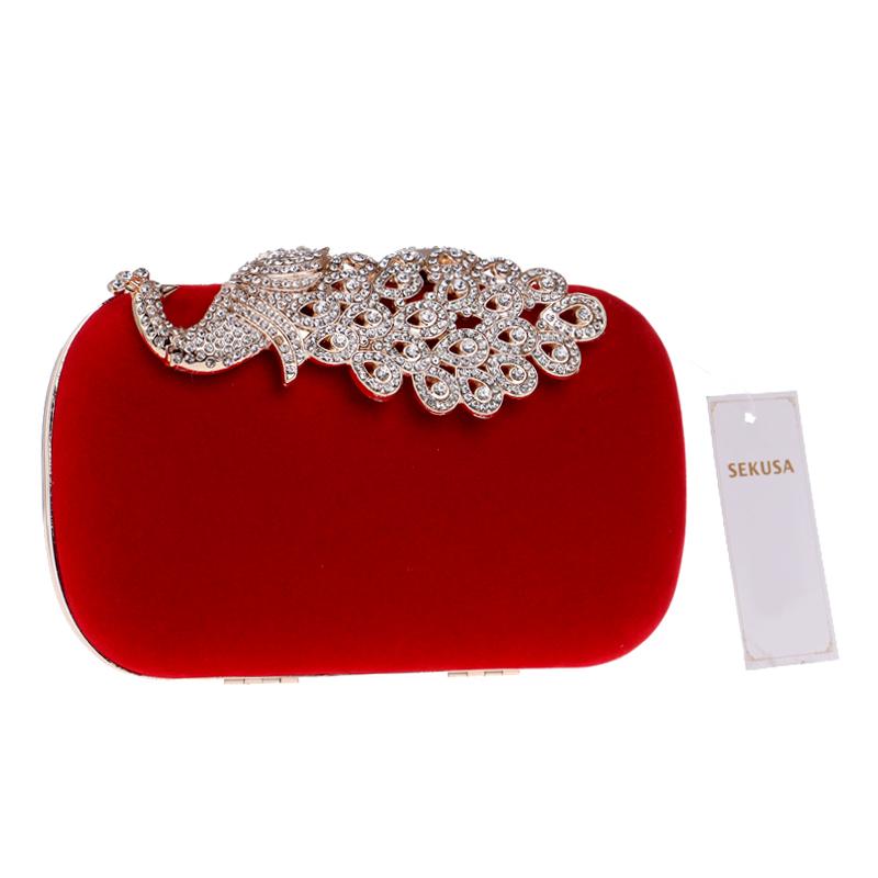 515bb090f4 SEKUSA Clutch evening bags Crown rhinestones evening bags purse shoulder bag  for wedding Diamonds Lady Purse Mini Evening Bags