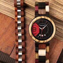 reloj hombre BOBO BIRD Men Watch Bracelet Set Wooden Timepieces Date Display Japan Movement Quartz Watches Men's Great Gifts