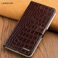 Genuine Leather case for Samsung galaxy S10 E S7 S8 S9 Plus A50 A70 A9 A8 2018 Note 10 phone case wallet with card slot magnetic