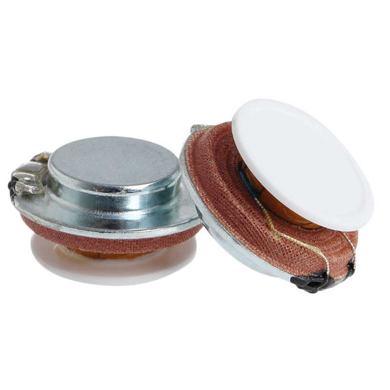 1 Set 2Pcs 4 Ohm 27mm 3W High Fidelity Audio Stereo Speaker Vibration Resonance