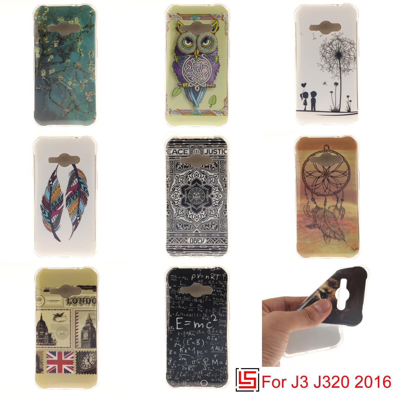 225fc554510 Ultra Thin TPU Silicone Soft Phone Mobile Case carcasa capinha Cover Bag For  Samsung Galaxy J3 2016 J320F J320 Dandelion Flower
