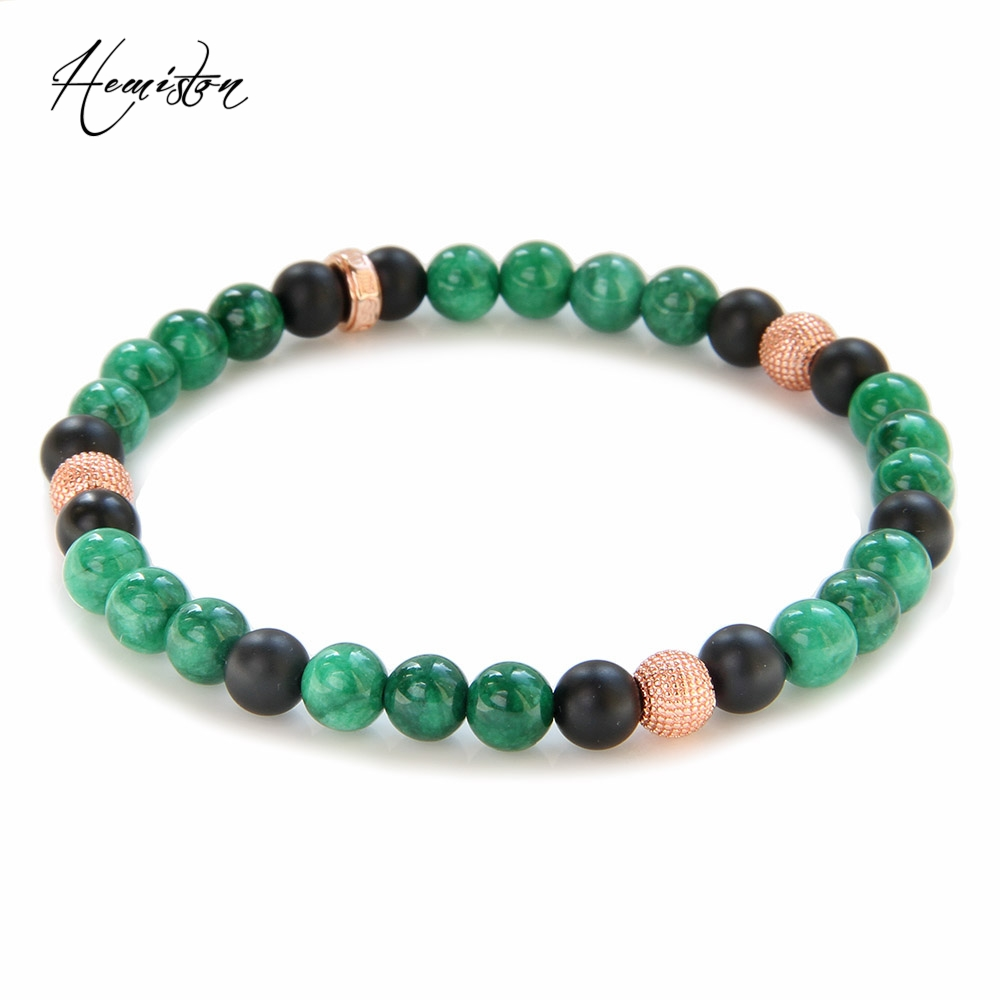 Thomas 6mm Colorful Material Mix Featuring Small Rose Gold Color Bead Bracelet, Glam Jewelry Soul Gift for Women TS B355