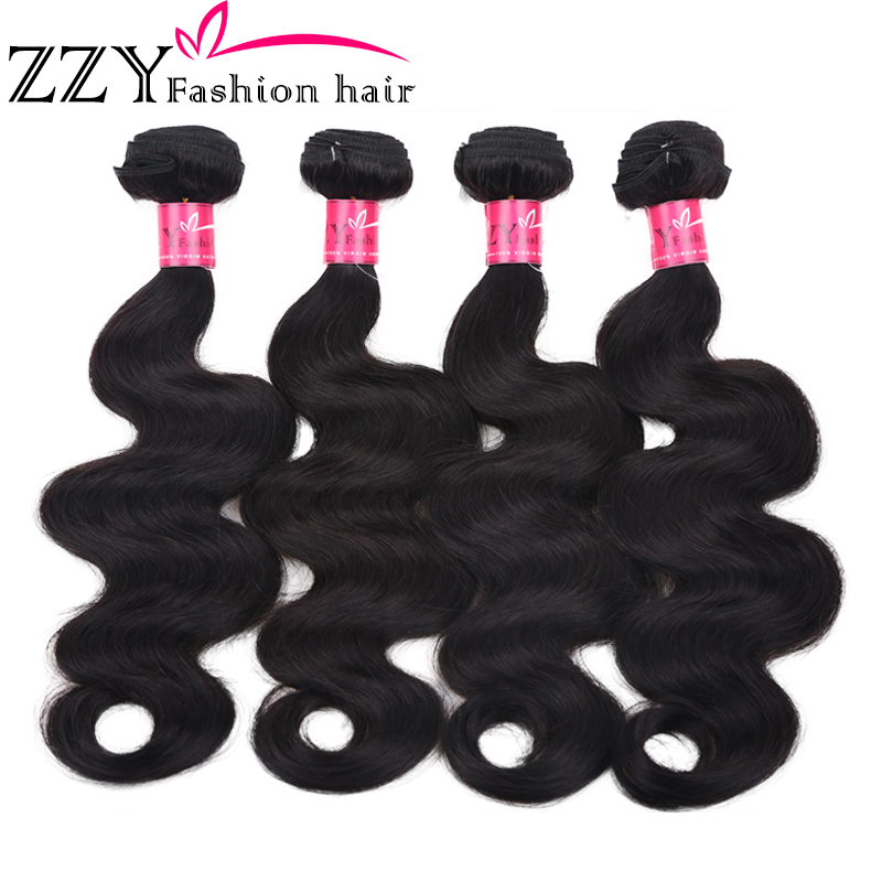 Hair Hair-Weave-Bundles Body-Wave ZZY Fashion 100%Human-Hair Peruvian Grade 8A 8-26inch