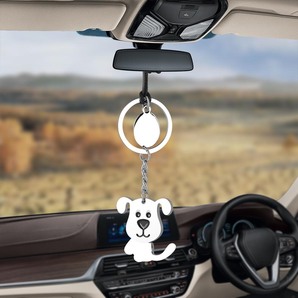 Car Pendant Cute Dog Moving Head Body