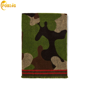 Image 1 - POBING bufanda de Cachemira de leopardo para mujer, chales básicos de acrílico, Wram, manta femenina, bufanda con borla