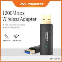 Comfast haute vitesse 1200 Mbps adaptateur sans fil USB3.0 2.4G & 5.8G 11AC double bande WiFi Signal Extender Point CF-913AC-V2 d'accès