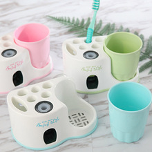 HOT Creative Wash Gargle Suit Toothbrush Holder Toothpaste Dispenser Cup Squeezer Automatic Bathroom Accessories