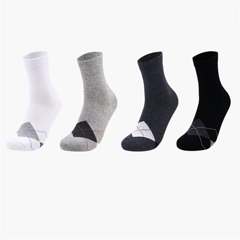 Mens socks cotton business casual sock retro formal clothes sock simple diamond check in tube socks
