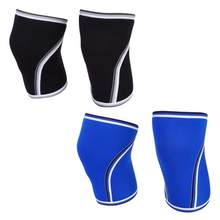 1 Pair Breathable 7mm Neoprene Elastic Knee Sleeve Weight Lifting Elastic Sleeve Sport Compression Knee Pad Sleeve(China)