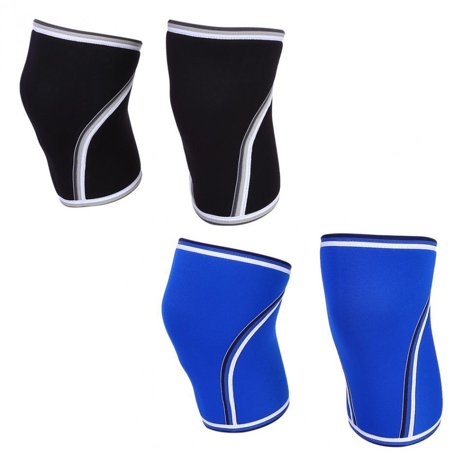 1 Para Atmungsaktive 7mm Neopren Elastische Knie Hülse Gewicht Stossen-anhebende Elastische Hülse Sport Compression Knie Pad Hülse Neue Sorten Werden Nacheinander Vorgestellt