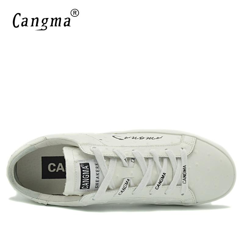 5cadaebc977d CANGMA Handgemachte Weiße Schuhe Für Mann Luxusmarke Aus Echtem Leder  Turnschuhe Freizeitschuhe männer Retro Männlich Italienischen Designer  Trainer in ...