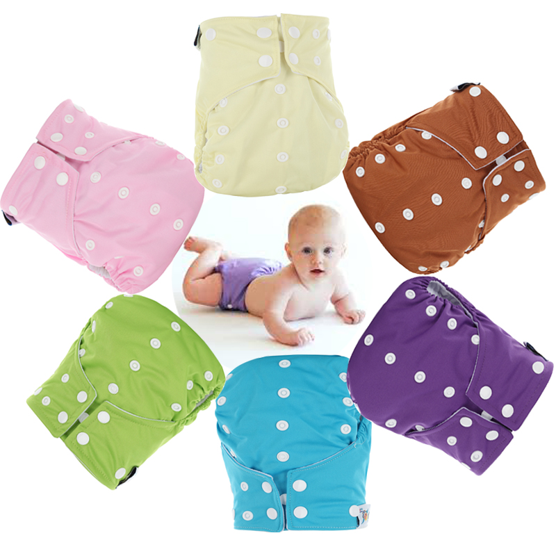 FREE SHIPPING PUL Solid All In Two Baby Cloth Diaper With Square Tab, AI2 Reusable Diaper With 2 Bamboo Inserts 1pc/lot