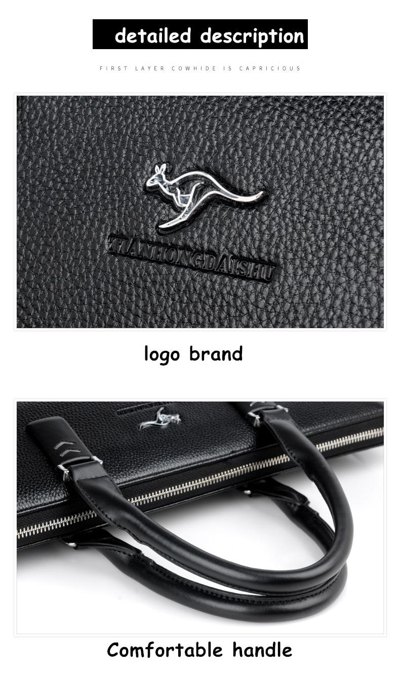HTB1kJJVXWagSKJjy0Fgq6ARqFXaL TIANHONGDAISHU Men Casual Briefcase Business Shoulder Leather Messenger Bags Computer Laptop Handbag Men's Travel Bags handbags