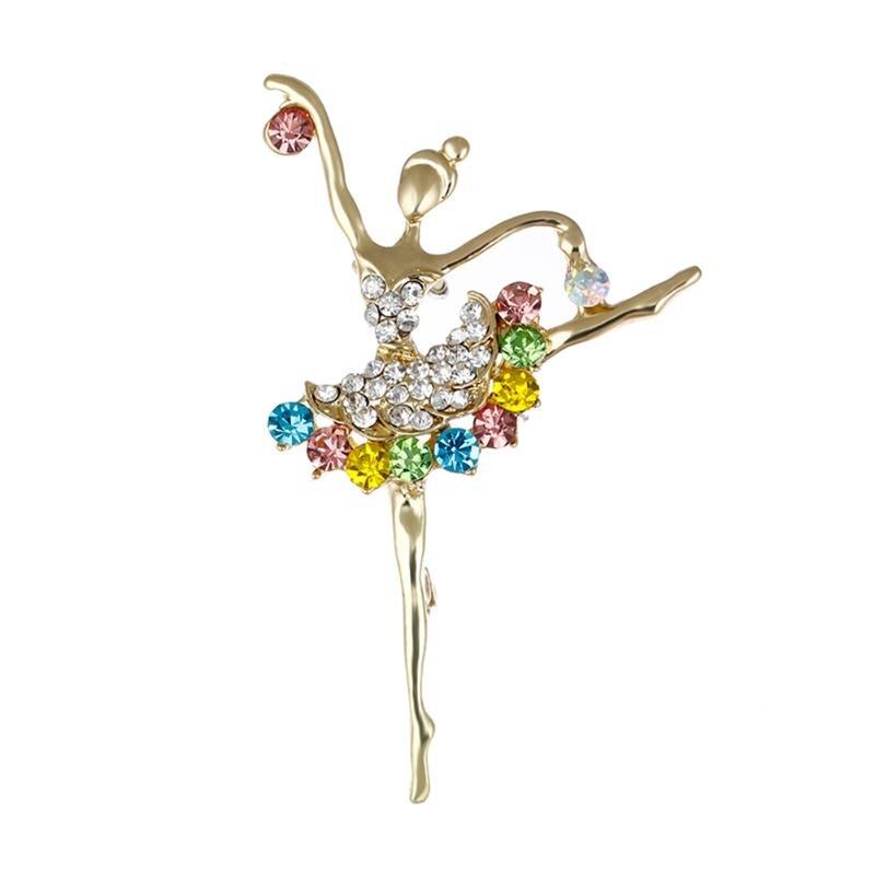 Новая мода балерина броши и брошь в форме музыкальной ноты для женщин балетные костюмы танец обувь девочек красочные кристалл булавки подарки