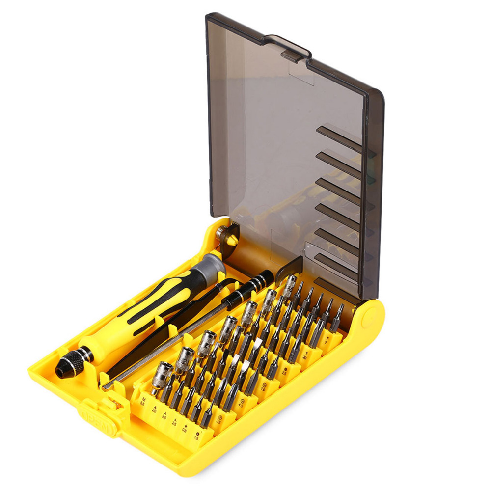 где купить Super Deal Precision 45 In 1 Electron Torx MIni Magnetic Screwdriver Tool Set Hand Tools Kit Phone PC Repair Tools With Box по лучшей цене