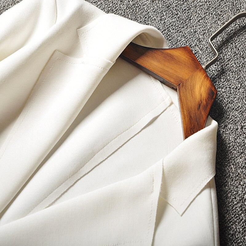 Vadim Autumn New   Three Quarter Sleeve Solid Single Button Notched Appliques Streetwear Women Blazers L-3xl