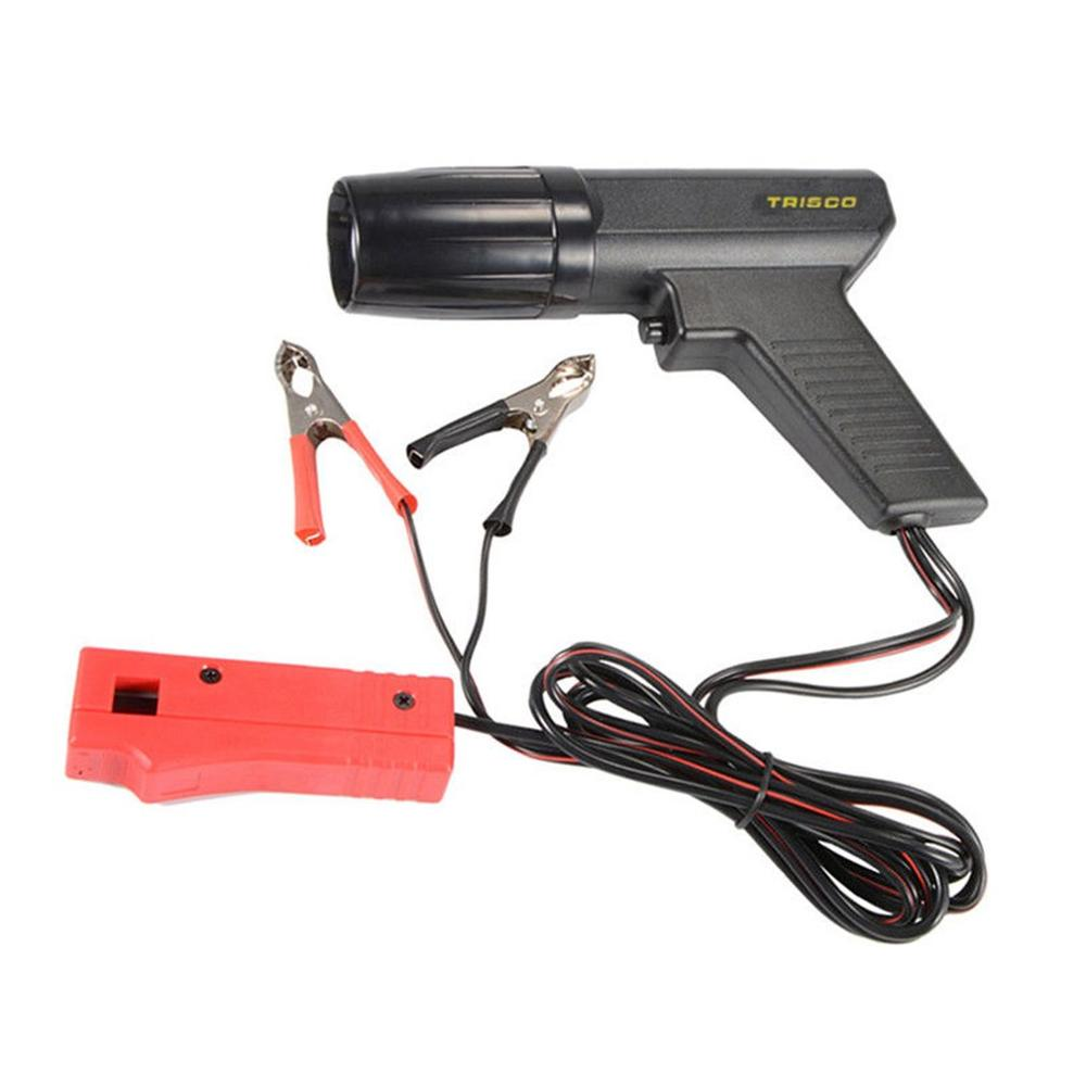 Professional 12V Car Motorcycle Engine Timing Light Ignition High Beam Timing Strobe Light Inductive Timing Lamp Detector