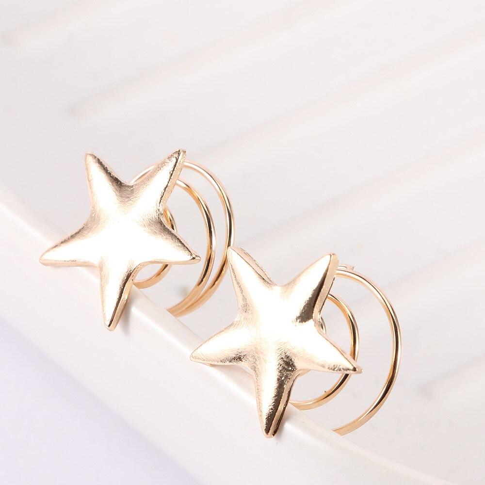 5Pcs Star Hair Clip Hairpin Spiral Hair Claw Stick Hair Accessories Elegant Gift