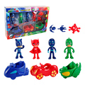With Box Pj masks Figure 7pcs Pj Masks Characters Catboy Owlette Gekko Cloak Action Figure Toys Boy Birthday Gift Plastic Dolls
