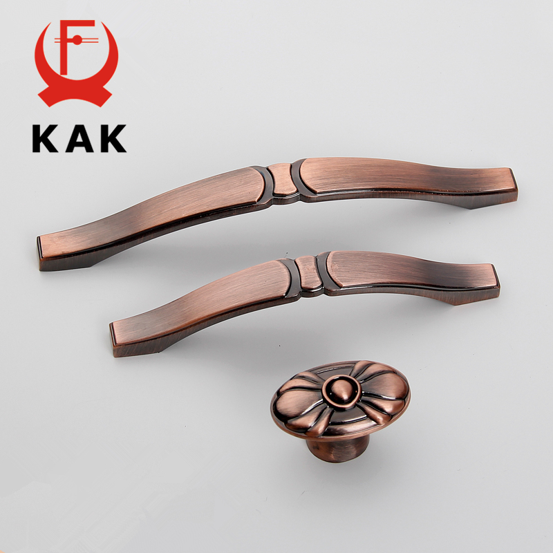 KAK Vintage Handles Kitchen Cabinet Knobs Antique Cupboard Door Handles Wardrobe Drawer Knobs Pulls Furniture Handle Hardware