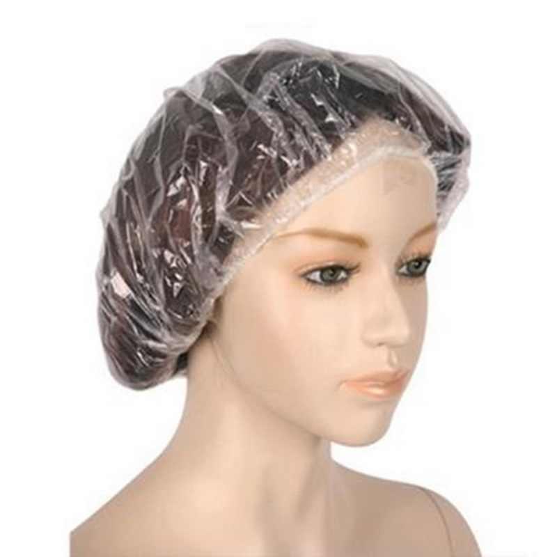 20 adet Tek Kullanımlık Şapka Otel One-Off Elastik Duş Banyo şeffaf kapak Salon Saç Banyo Ürünleri Saç Aracı Moda Güzellik