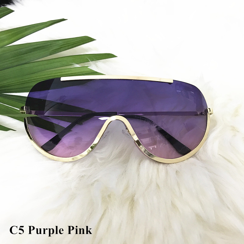 Rimless Gold Clear Sunglasses Men Women Brand Designer Aviator Clear Sunglasses 16