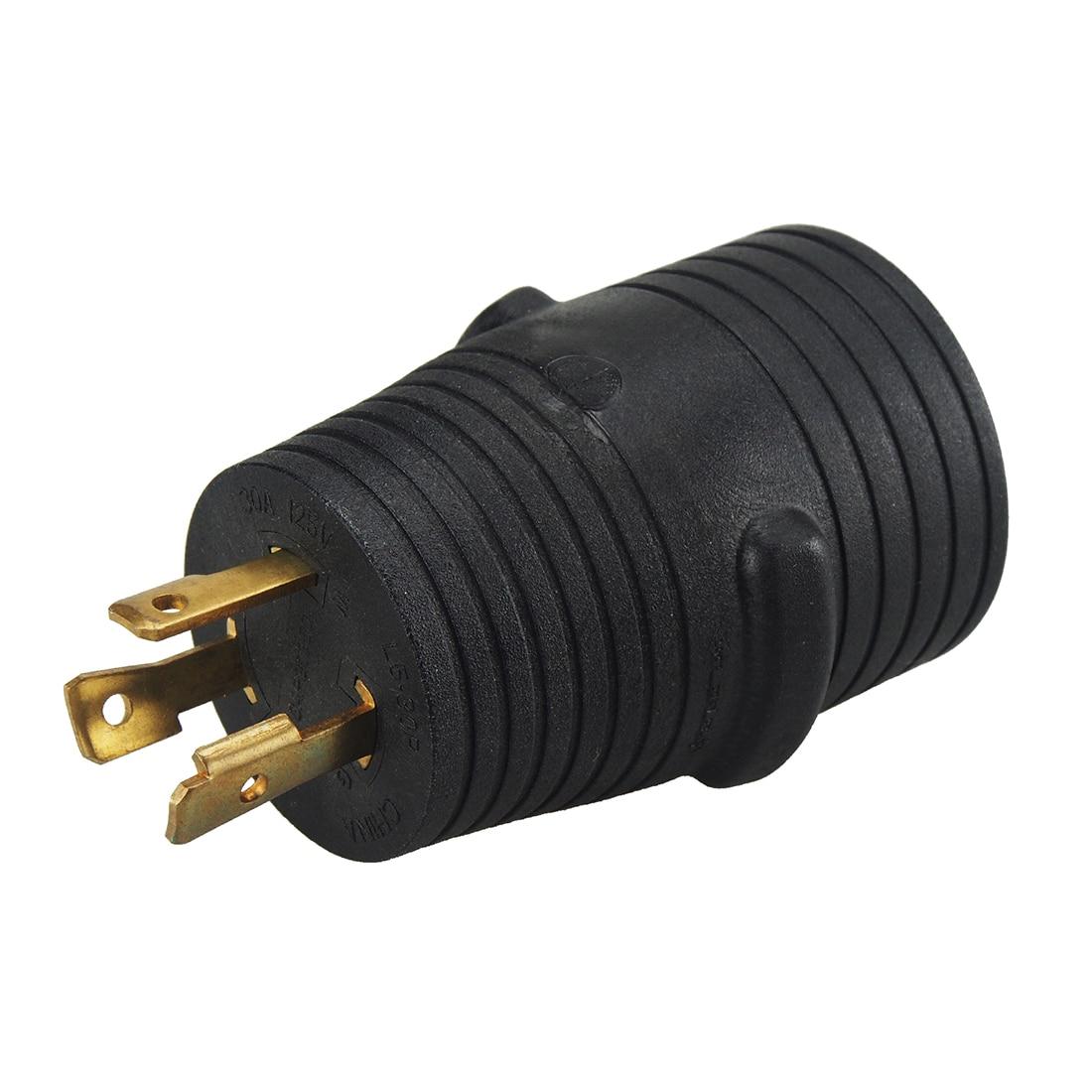 JORINDO [L5-30P до 14-50R] Plugrand Nema L5-30 30 штекер до 14-50 50 Ампер адаптер генератора, Nema L5-30P до 14-50R - Цвет: Черный