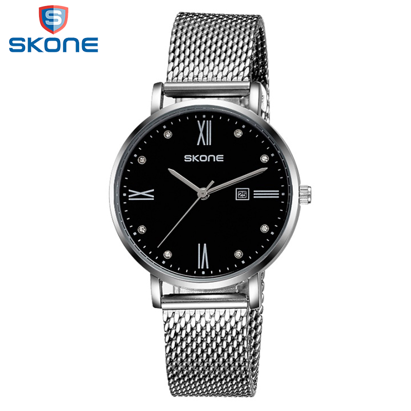 SKONE Vintage Business Quartz-watch For Gentleman New Arrival Wholesale Relogio Masculino Alloy Strap Waterproof Men Watches skone relogio 9385