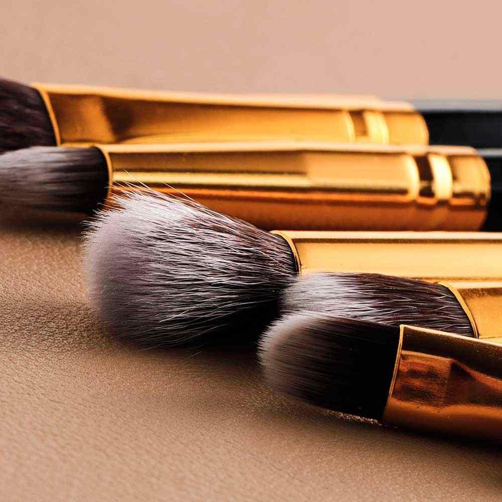 FIA 8 sztuk pędzle do makijażu 100% wegańskie syntetyczne szczotki do włosów do makijażu cień do powiek mieszanie Eyeliner pędzle do ust
