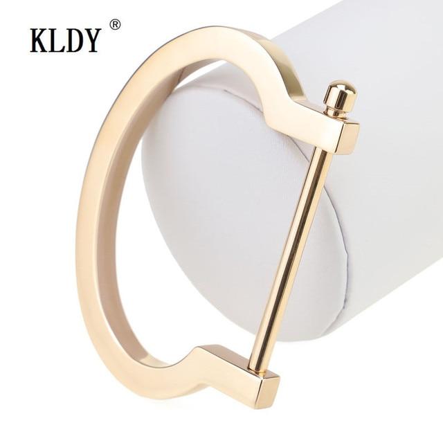 Kldy Fashion Punk Love Bangle Men Horseshoe Bracelet Rose Gold Jewelry Stainless Steel Charm Cuff Bracelets Gifts