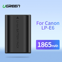 Ugreen LP-E6 Camera Battery 1865mAh for Canon LP E6 EOS 5D Mark 4/3/2 60D 5D4 70D 6D 6D2 5D2 7D 7D2 80D 5DS Camera Batteries