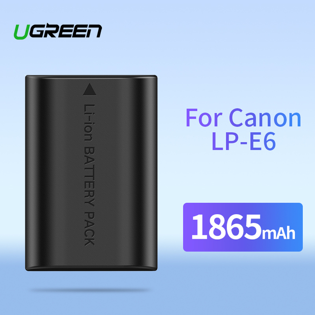 Ugreen LP-E6 Camera Battery 1865mAh for Canon LP E6 EOS 5D Mark 4/3/2 60D 5D4 70D 6D 6D2 5D2 7D 7D2 80D 5DS Camera Batteries