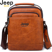JEEP BULUO Split Leather Men Messenger Bag Hot Sale Male Lar